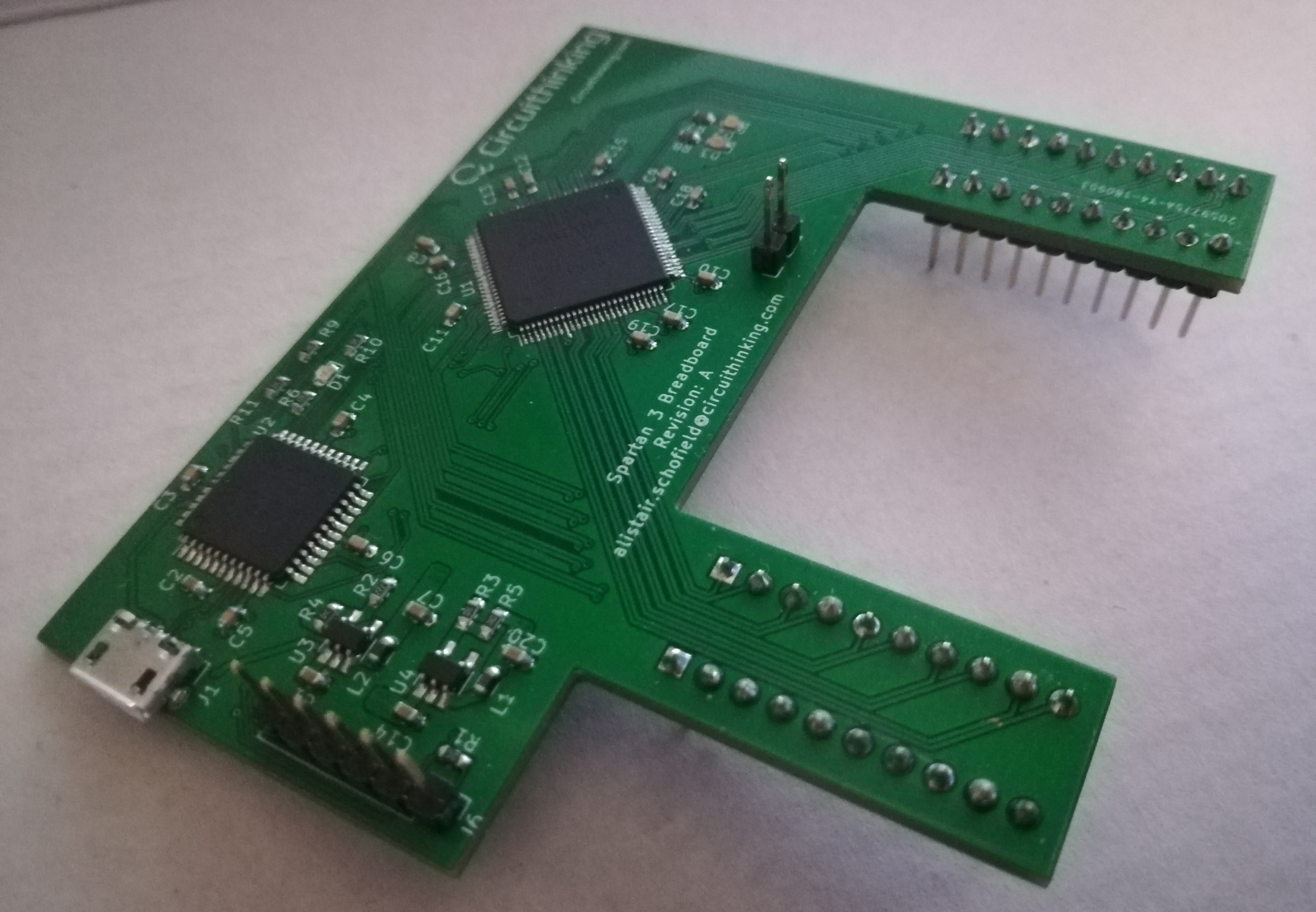 A Pcb For An Fpga Circuithinking Limited Circuit Symbols Integrated Components Fully Assembled